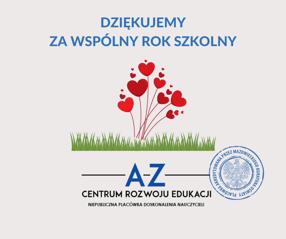 Dziękujemy za wspólny rok szkolny :)